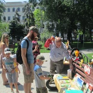 Творческий проект «Лето с книгой» в Братском саду